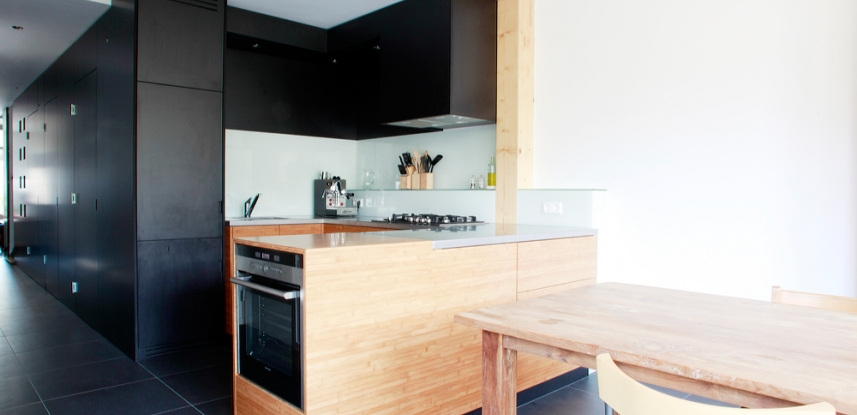 Bamboe houten keuken