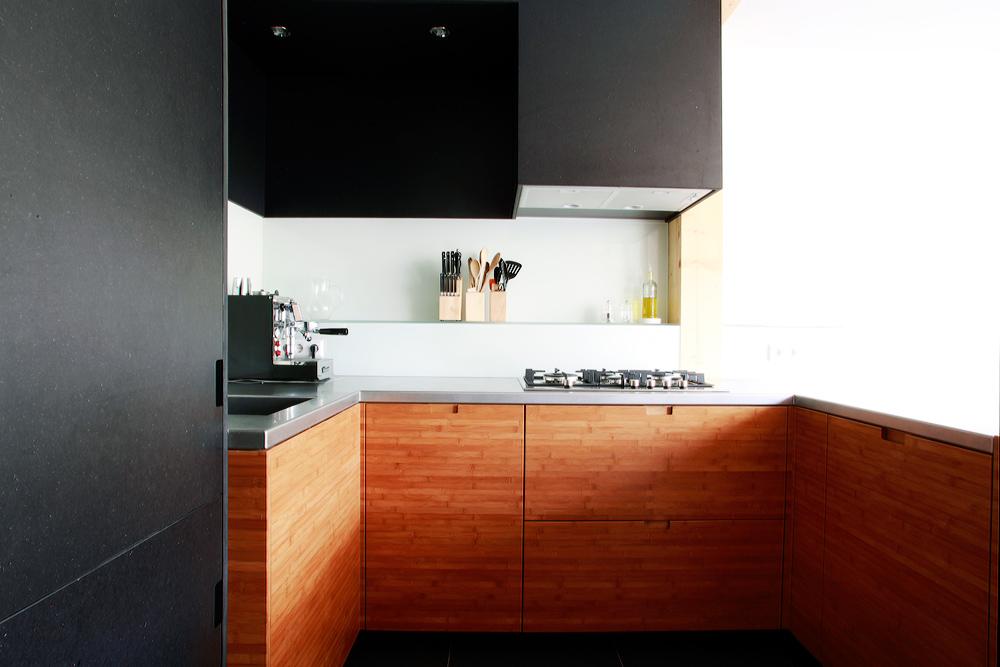 Bamboe houten keuken - Van der Valk Interieurs